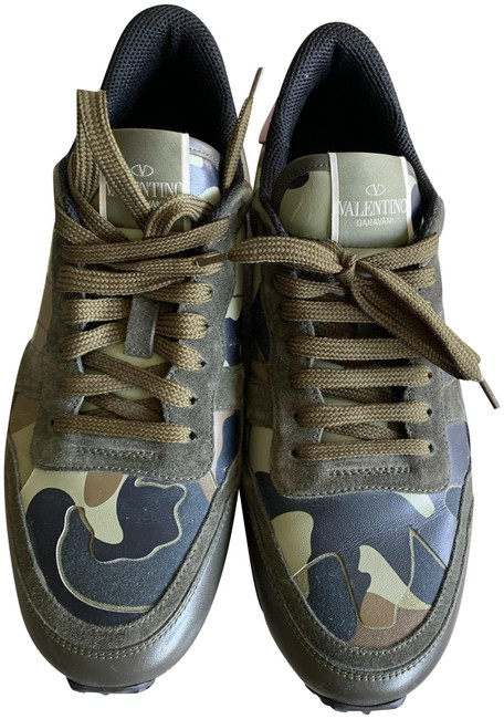 Item - Green Camouflage Sneakers Size EU 42 (Approx. US 12) Regular (M, B)