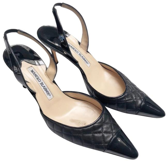 Item - Black Irie Quilted Sling Pumps Size US 9.5 Regular (M, B)