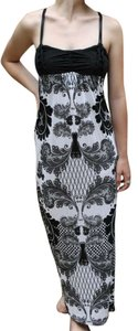 black and white Maxi Dress by Sweet by Miss Me Maxi Sundress Cotton Geniune Full Length Soft