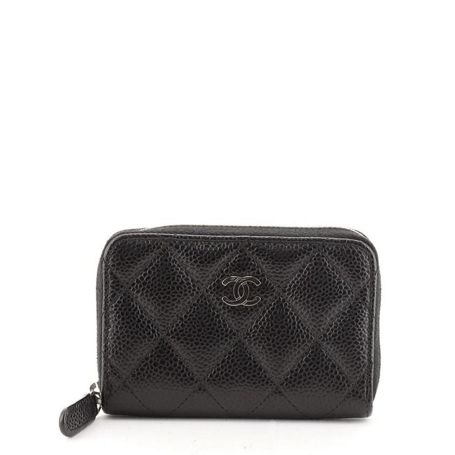 Chanel Cc Zip Coin Purse Quilted Caviar Small Black Leather Clutch Chanel Cc Zip Coin Purse Quilted Caviar Small Black Leather Clutch Image 1