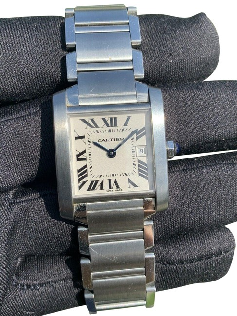 Item - Silver Tank Francaise 2465 25mm Stainless Steel Watch