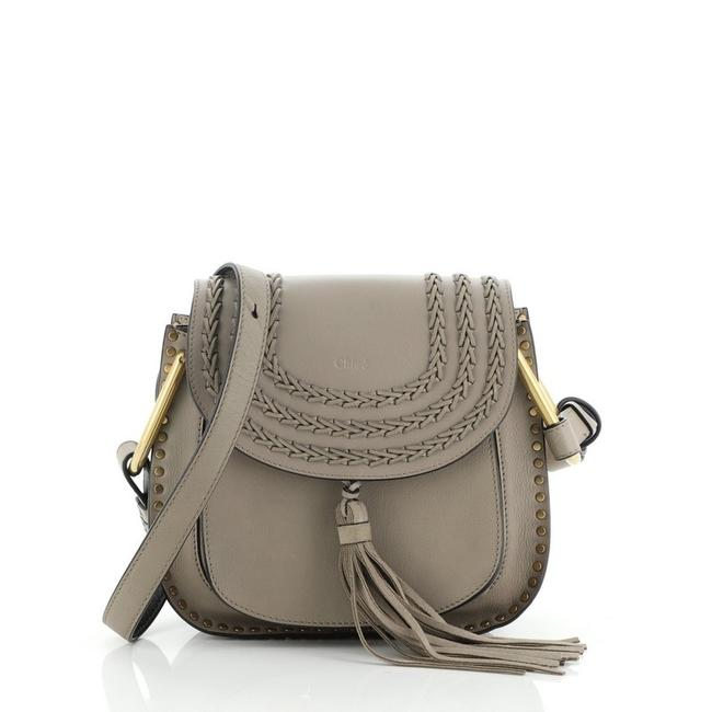Item - Hudson Handbag Whipstitch Small Gray Suede Leather Cross Body Bag