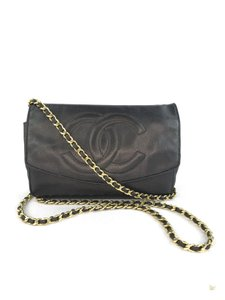 Chanel Caviar Leather Wallet On Chain Timeless Cross Body Bag