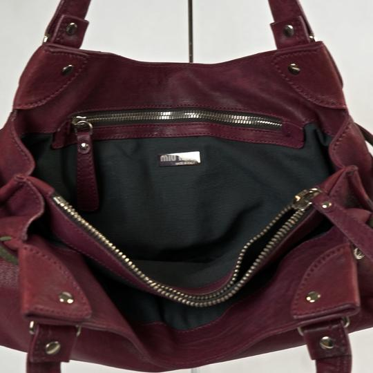 Miu Miu Satchel in Burgundy