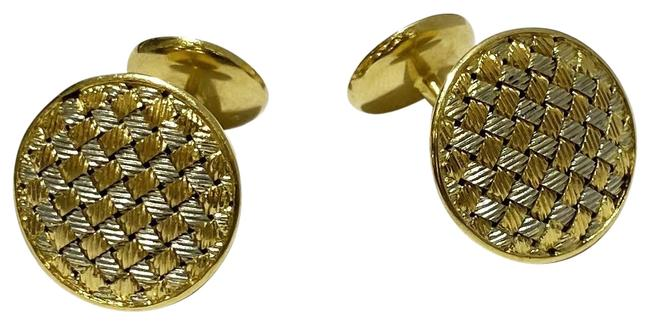 Item - Yellow Gold Two Tone Woven Cufflinks