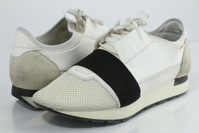 Item - White Men's Race Runners Sneakers Shoes