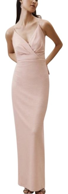 Item - Pink Cream Anthropologie Adrianna Papell Rhodes New Long Formal Dress Size 4 (S)