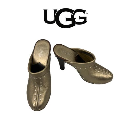 716-169 Gold Mules size 10