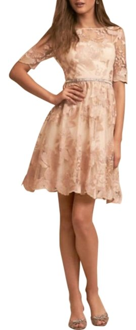 Item - Cream Pink Anthropologie Adrianna Papell Nadine New Mid-length Formal Dress Size 8 (M)