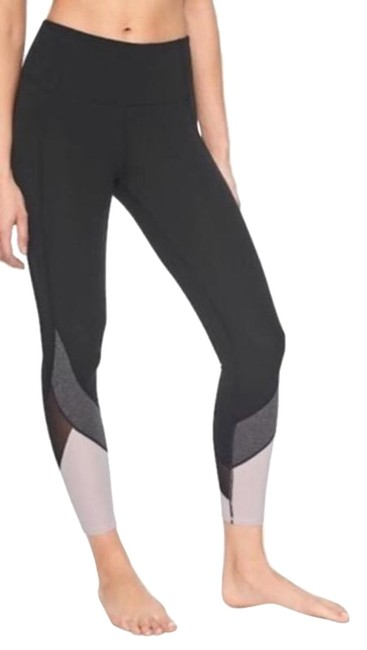 Item - Black / Gray / Light Pink Colorblock Salutation 7/8 Tights Activewear Bottoms Size 2 (XS, 26)