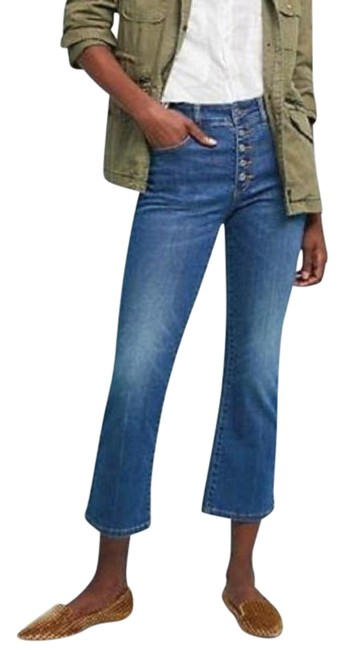 Item - Pilcro and The Letterpress Blue Medium Wash High Rise Crop Flare Leg Jeans Size 26 (2, XS)