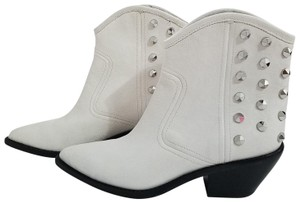 Marc Fisher Western Leather Studded white Boots