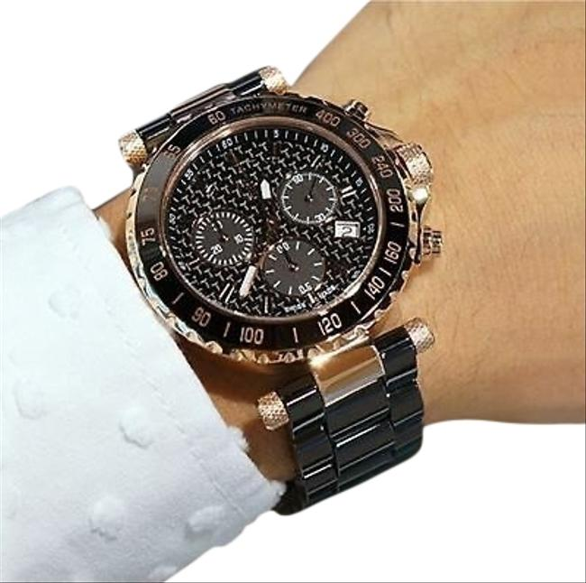 Guess Collection Black Rose Gold Gc Gc X58003g2s For Men Analog Casual Watch Guess Collection Black Rose Gold Gc Gc X58003g2s For Men Analog Casual Watch Image 1