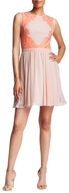 Preload https://img-static.tradesy.com/item/27976769/ted-baker-coral-vember-lace-detail-colorblock-mid-length-cocktail-dress-size-6-s-0-1-650-650.jpg