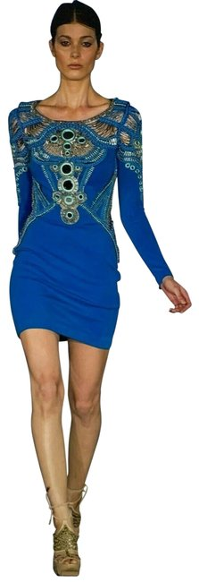 Preload https://img-static.tradesy.com/item/27976792/just-cavalli-blue-short-casual-dress-size-4-s-0-1-650-650.jpg