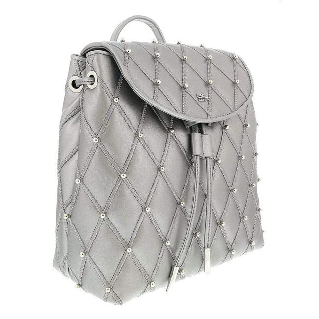 Roberto Cavalli Silver Calf Leather Backpack Roberto Cavalli Silver Calf Leather Backpack Image 1