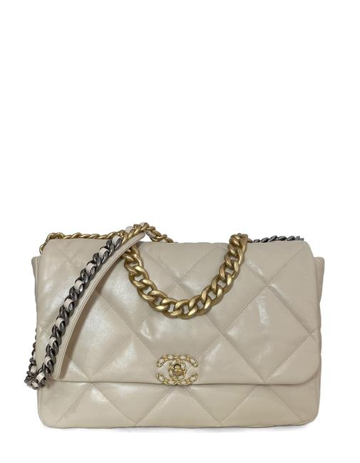 Chanel Classic Flap 2020 Quilted Maxi 19 Beige Goat Skin Leather Shoulder Bag Chanel Classic Flap 2020 Quilted Maxi 19 Beige Goat Skin Leather Shoulder Bag Image 1