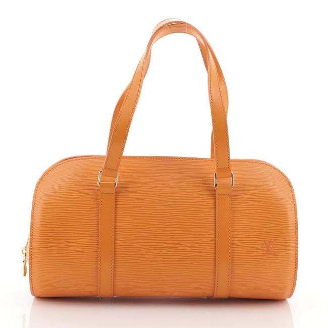 Louis Vuitton Soufflot Handbag Epi Orange Leather Satchel Louis Vuitton Soufflot Handbag Epi Orange Leather Satchel Image 1