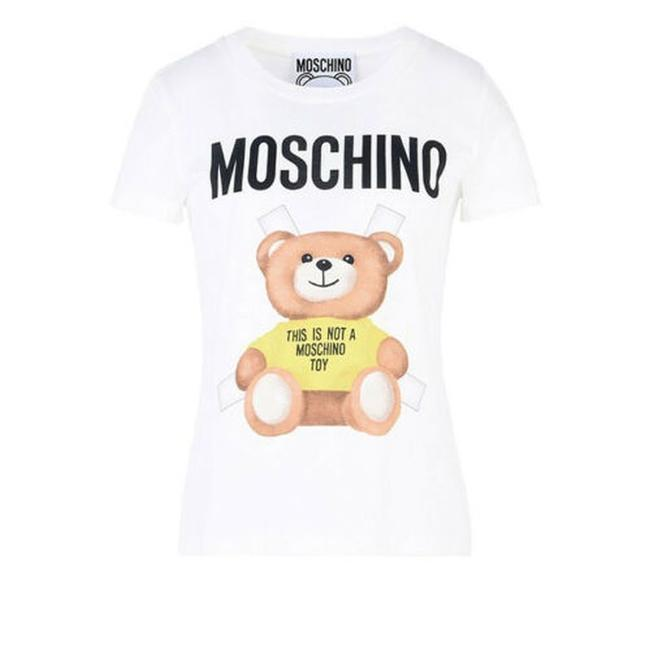 Preload https://img-static.tradesy.com/item/27977112/moschino-white-ss17-teddy-bear-paper-doll-t-shirt-in-yellowwhite-tee-shirt-size-0-xs-0-0-650-650.jpg