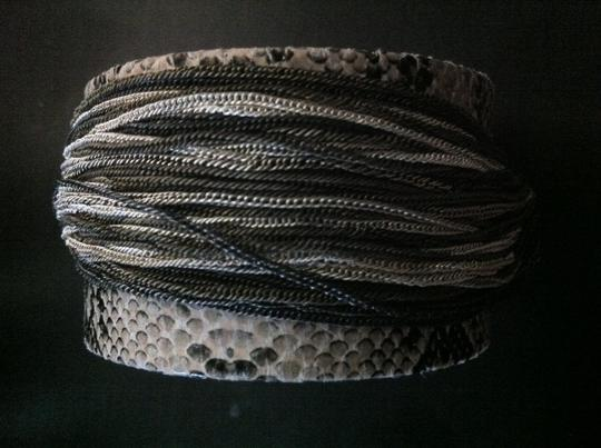 Other Faux Snake Skin Chained Cuff