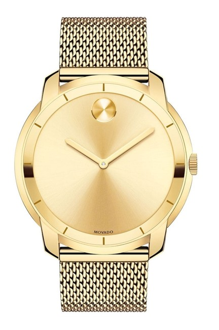 Movado Gold Stainless Steel Mesh Strap Mens 3600373 Watch Movado Gold Stainless Steel Mesh Strap Mens 3600373 Watch Image 1