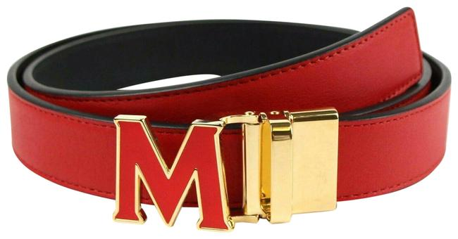 Item - Red Leather with Gold Hardware One Size Myb8avi39ru001 Belt