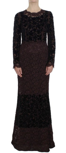Dolce&Gabbana Purple Floral Lace Ricamo Dolce & Gabbana Long Casual Maxi Dress Size 12 (L) Dolce&Gabbana Purple Floral Lace Ricamo Dolce & Gabbana Long Casual Maxi Dress Size 12 (L) Image 1