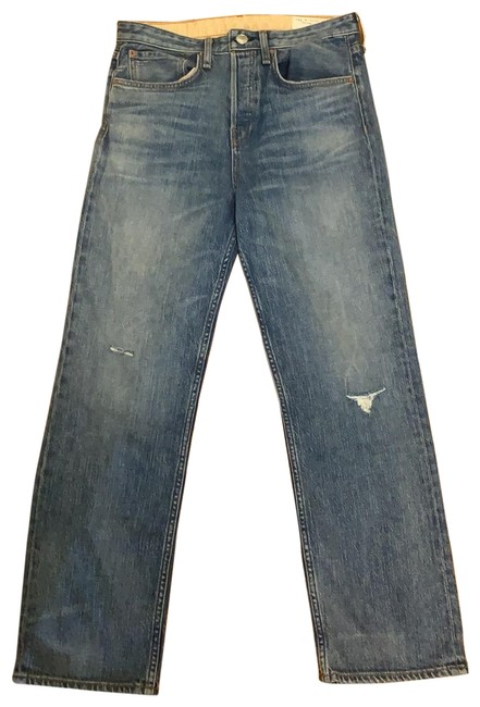 Item - Blue Distressed Maya Relaxed Fit Jeans Size 4 (S, 27)