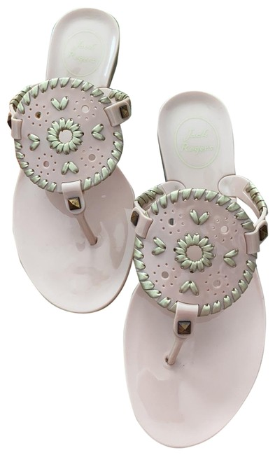 Jack Rogers Pink Jelly Georgica Sandals Size US 6 Regular (M, B) Jack Rogers Pink Jelly Georgica Sandals Size US 6 Regular (M, B) Image 1