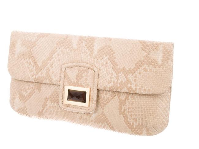 Kara Ross Snakeskin Leather Clutch Kara Ross Snakeskin Leather Clutch Image 1