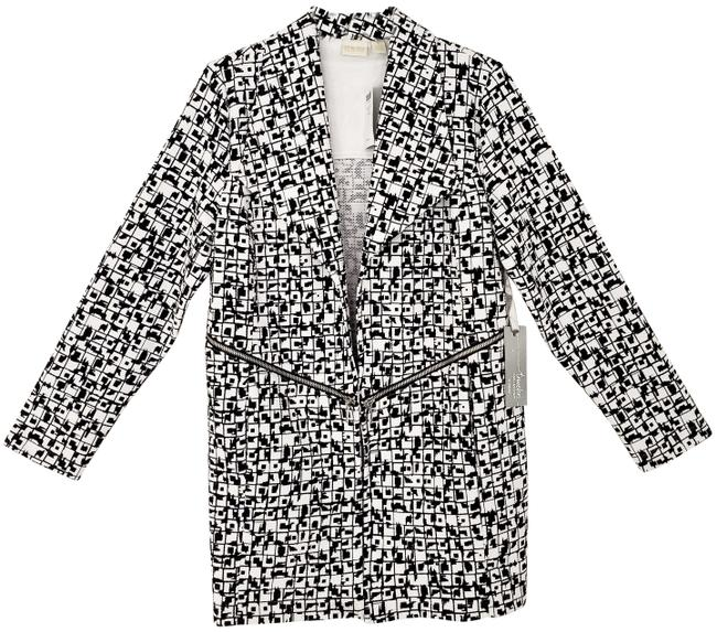 Item - Black and White Traveler's Collection Geometric Tiles Jacket Size 8 (M)