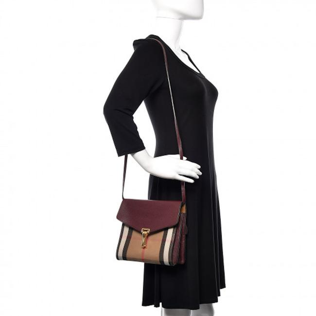 Item - Macken House Check Derby Mahogany Red Leather Cross Body Bag