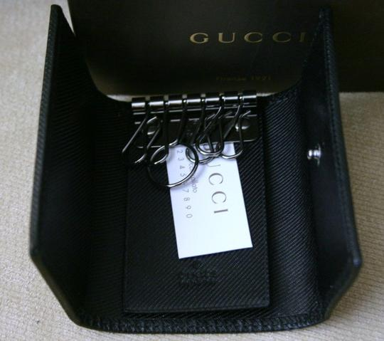Gucci New Authentic GUCCI GG Canvas Key Holder Hey Chain Black w/ Box! Excellent Gift!!
