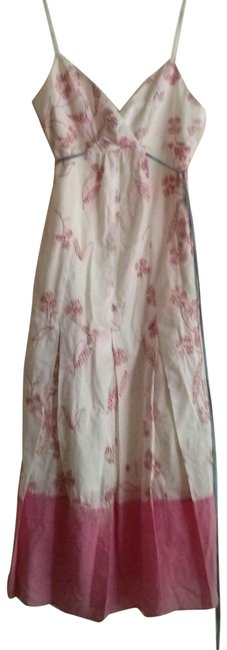 Item - White Maxazria Collection Embroidered Long Casual Maxi Dress Size 2 (XS)
