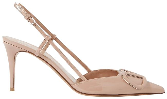 Item - Vlogo 80 Patent-leather Slingback Pumps Size EU 37 (Approx. US 7) Regular (M, B)