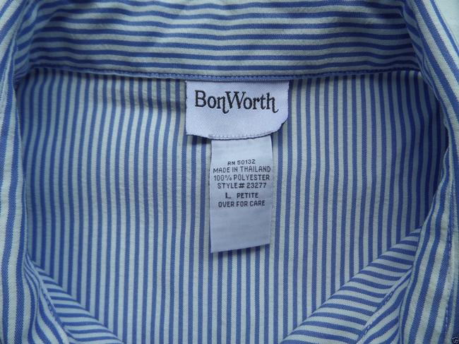 BonWorth Button Down Shirt Blue & White