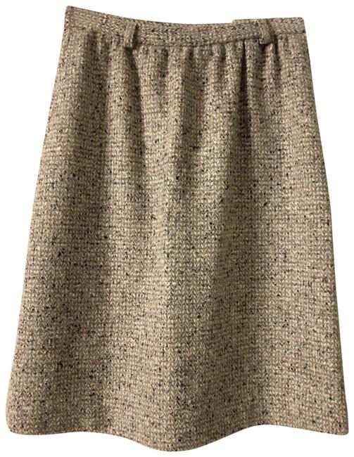 Item - Brown Wool Tweed Vintage Skirt Size 12 (L, 32, 33)