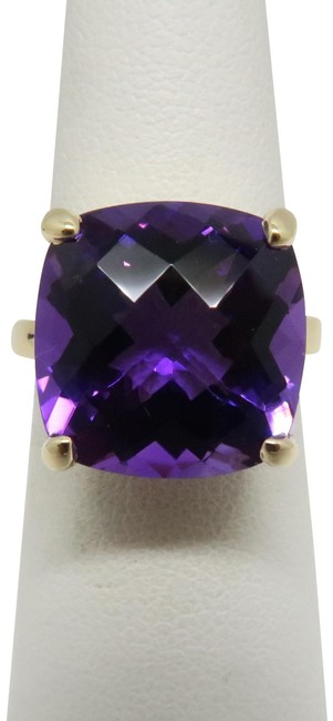 Item - 18k Yellow Gold and Purple Sparkler Ring