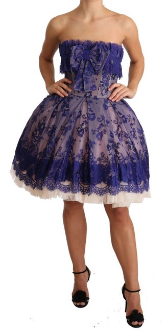 Item - Purple Lace Ballerina Tulle Strapless G Short Casual Dress Size 4 (S)
