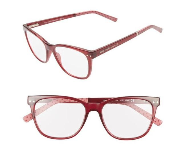 Kate Spade Red/Pink Reading Glasses with Soft Case Joyanne +2.00 Kate Spade Red/Pink Reading Glasses with Soft Case Joyanne +2.00 Image 3