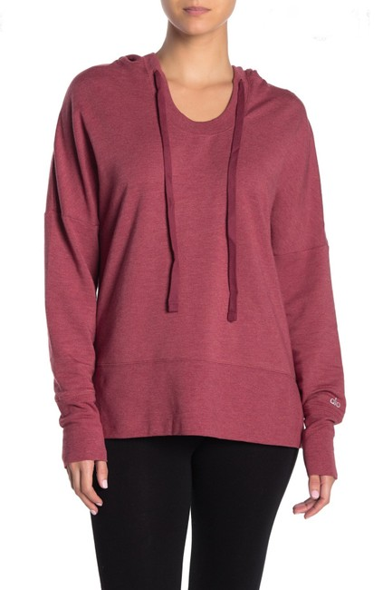 Item - Red Velvet Heather Fluid Tunic Essential Activewear Outerwear Size 2 (XS)