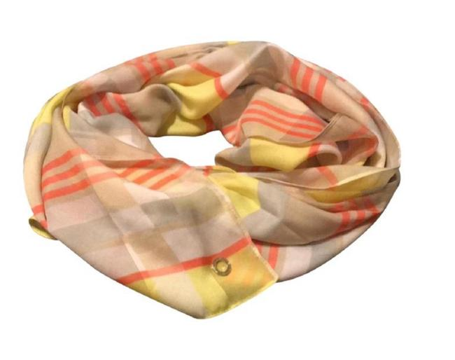 Item - Yellow Multi Color Gray Silk Sheer High Quality Women's Scarf/Wrap Scarf/Wrap