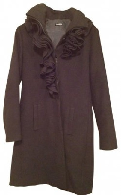Preload https://item2.tradesy.com/images/elie-tahari-black-ruffle-front-wool-pea-coat-size-12-l-27981-0-0.jpg?width=400&height=650