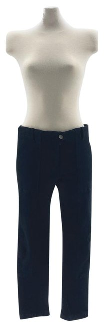 Item - Navy Structered Silver Hardware Pants Size 6 (S, 28)