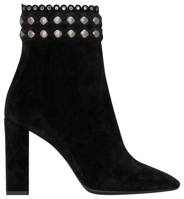 Saint Laurent Lou Suede Decorated with Studs Ankle Boots/Booties Size EU 39.5 (Approx. US 9.5) Regular (M, B) Saint Laurent Lou Suede Decorated with Studs Ankle Boots/Booties Size EU 39.5 (Approx. US 9.5) Regular (M, B) Image 1