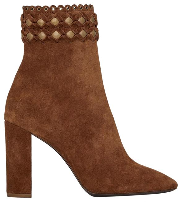 Saint Laurent Lou Suede Decorated with Studs Ankle Boots/Booties Size EU 37 (Approx. US 7) Regular (M, B) Saint Laurent Lou Suede Decorated with Studs Ankle Boots/Booties Size EU 37 (Approx. US 7) Regular (M, B) Image 1