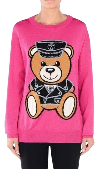 Item - Aw16 Teddy Bear Project Policeman Pink Sweater