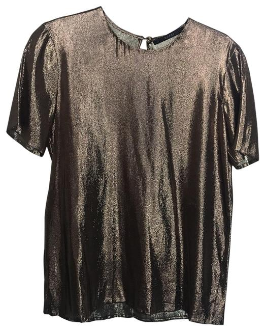 Item - Gold Lame 287074 Blouse Size 4 (S)