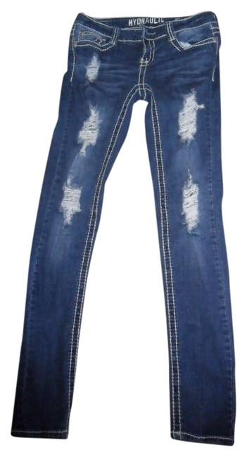 Preload https://item2.tradesy.com/images/hydraulic-dark-bluedenim-distressed-jeggings-size-29-6-m-279816-0-0.jpg?width=400&height=650