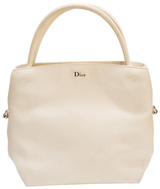 Item - Bag Christian White Leather Tote